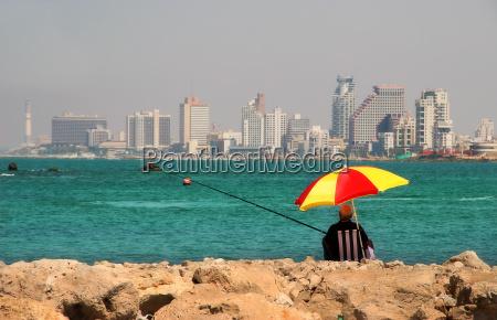 paseo viaje ciudad israel pescador stadtkern