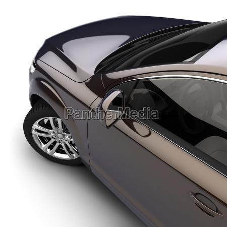 coche con una pintura de dos