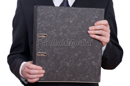 folder and two hands