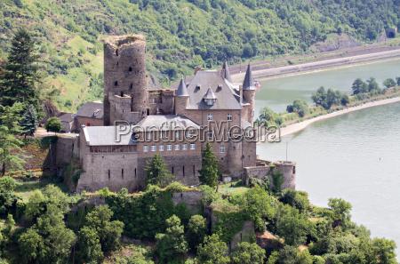rin alemania fuerte lorelei bosque castillo