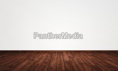 parete libera con pavimento in parquet