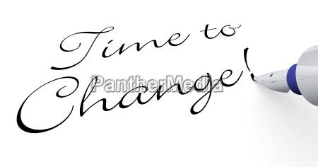 pen concept tiempo de cambio