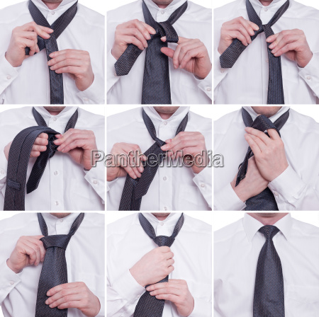 tie tie with a windsor knot