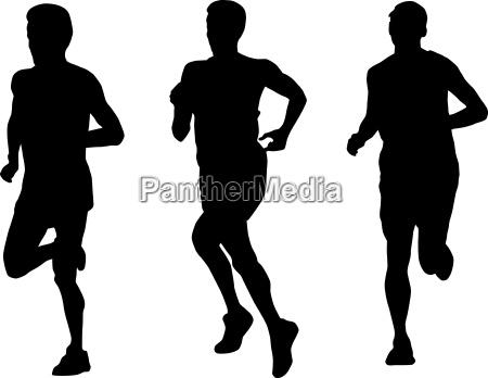 marathon corredor corriendo silueta