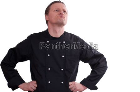a chef looks up