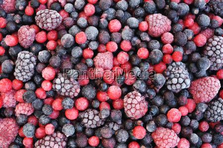 cerca de la fruta congelada mezclada