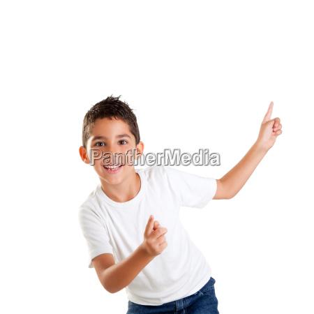 bailando ninyos feliz ninyo chico con