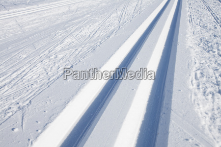 invierno pista esqui esqui de fondo