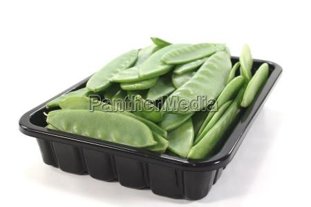 fresh peas in a dish