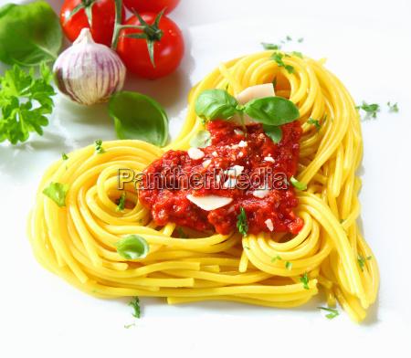 pasta, y, tomate, en, forma, de - 6495911
