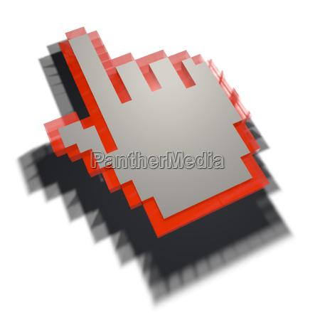 mano dedo pictograma icono mercadeo