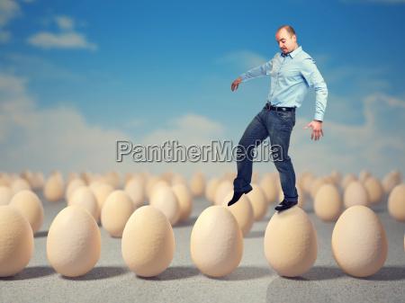 caminar sobre huevos
