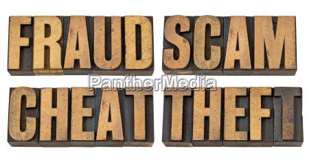 fraude estafa enganyo y robo