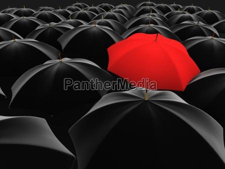 paraguas rojo unico