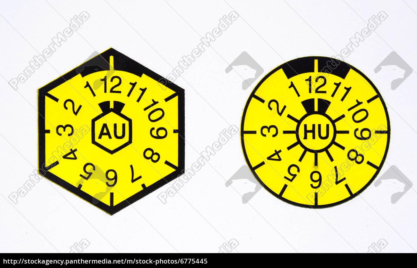 sello, tüv, y, au-insignia - 6775445
