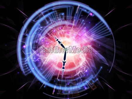 presente fechas disenyo futuro negro reloj