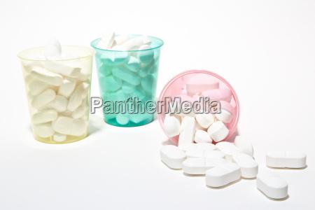 pastillas en tazas