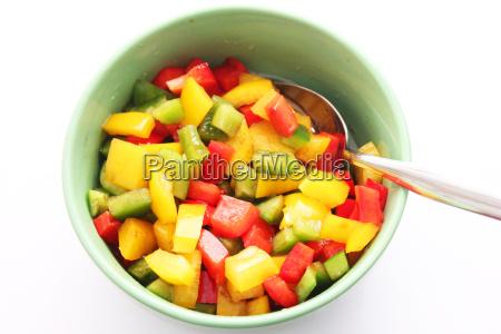 comida vegetal paprika pimientos bocadillo ensalada