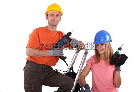 construir negocios trabajo mano de obra