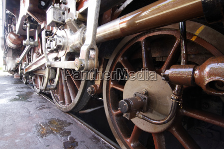 tren vehiculo transporte vapor locomotora ruedas