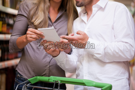young couple going shopping together in