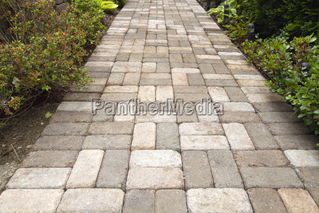garden brick paver path walkway