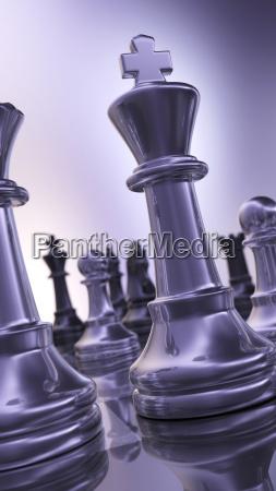piezas de ajedrez abstracta brillante