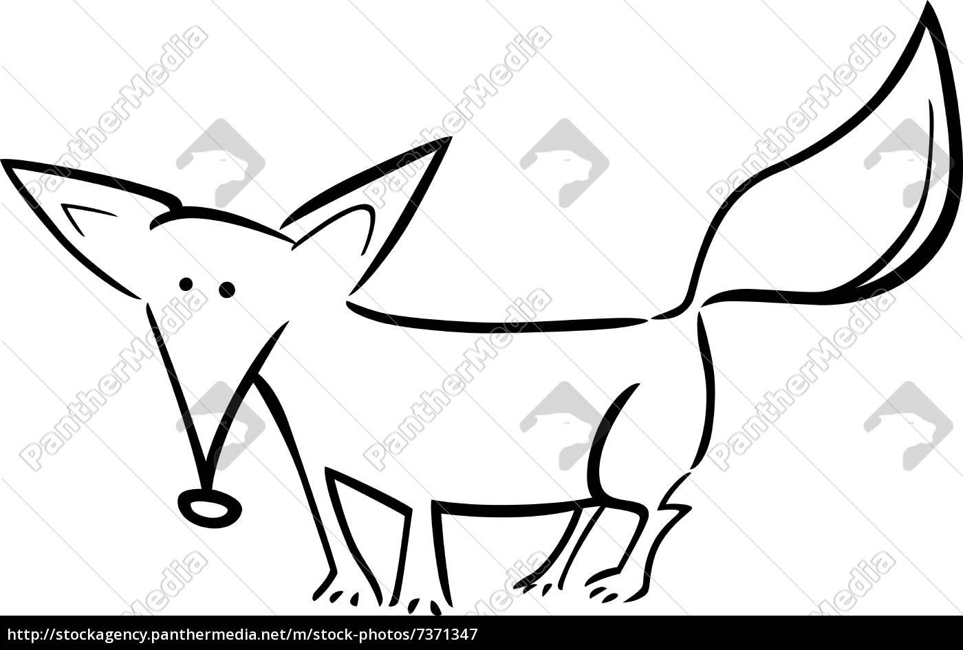 Royalty Free Imágen 7371347 Ilustración De Dibujos Animados De Zorro Para Colorear