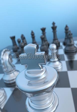 enfoque de ajedrez cerca