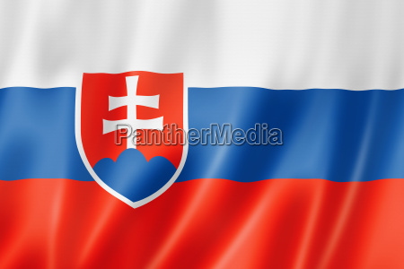 eslovaquia bandera textil raso