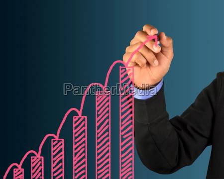 azul mostrar mano liberado grafico espacio