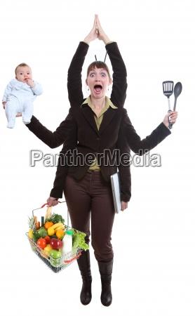 mujer malabares fruta