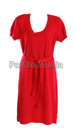 vestido de punto rojo femenino