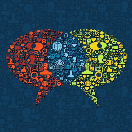 interaccion de burbujas de discurso en