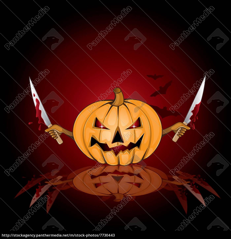 fondo, de, halloween, con, calabaza, asesina - 7730443