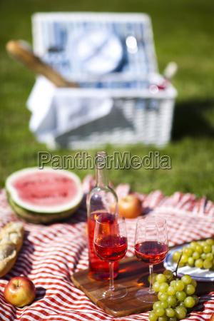 comida fiesta vacaciones verano veraniego canasta