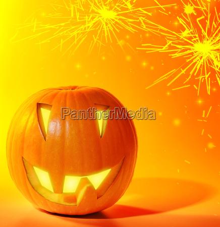 celebrar celebra iluminado linterna halloween calabaza