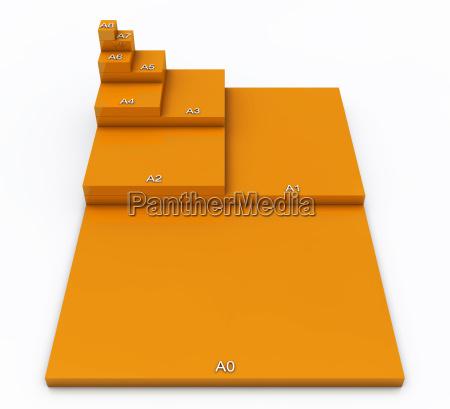formato 3d din a0 a a8