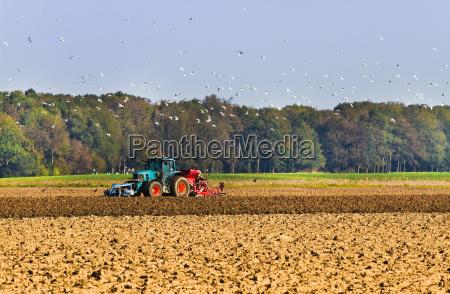 agricultura plough el campo con