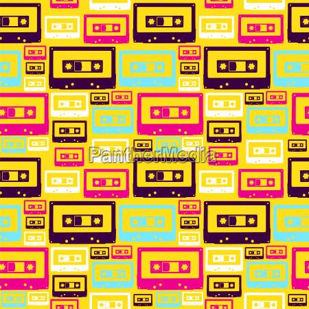 patron de cintas de audio pop