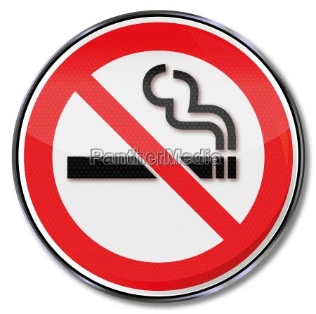 prohibicion prohibicion de fumar signo