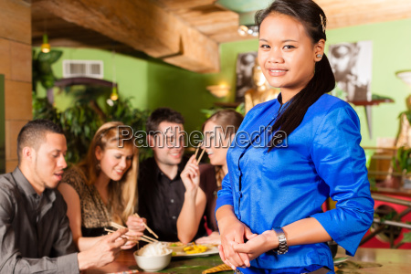 young people with eating in a