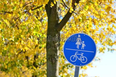 senyal de carretera para carril bici