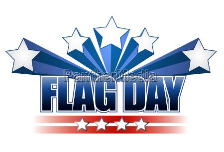 us flag day stars illustration design