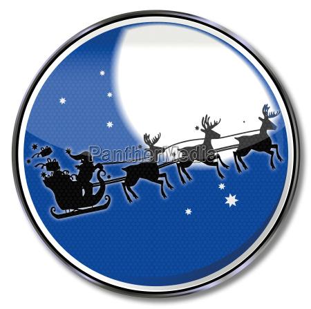 christmas nikolau and reindeer with full