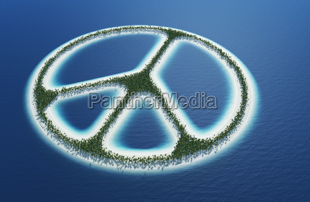 peace sign island concept 4