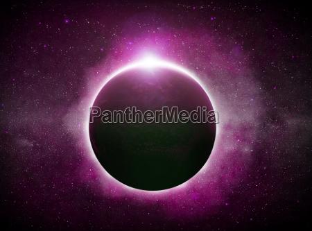 eclipse sobre el planeta tierra