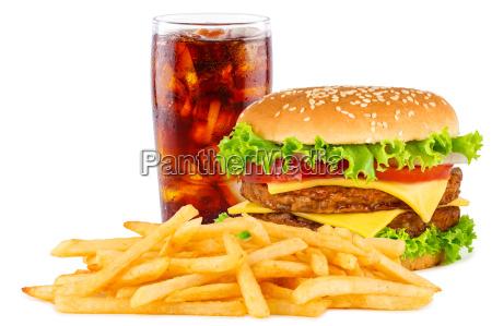 menu de hamburguesa