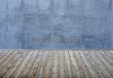 habitacion vacia pared de piedra azul