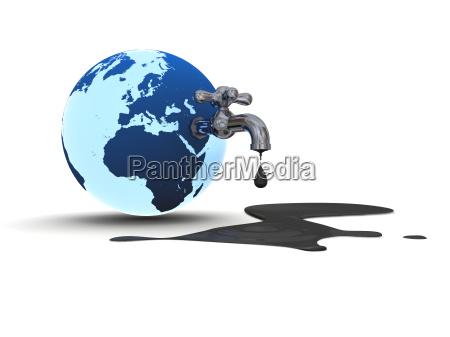 disenyo polucion globo tierra